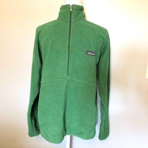 Men's Patagonia Green 1/4 Zip Pullover Synchilla